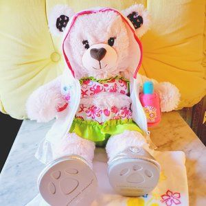 Build-A-Bear Pink Heart Bear with Swimsuit Outfit